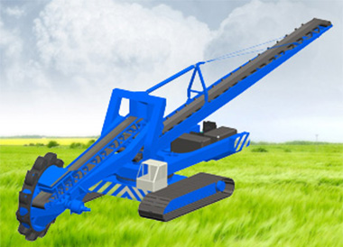 Sail Transmission Successfully Applied--The World's First Complete Hydraulic Bucket Wheel Excavator